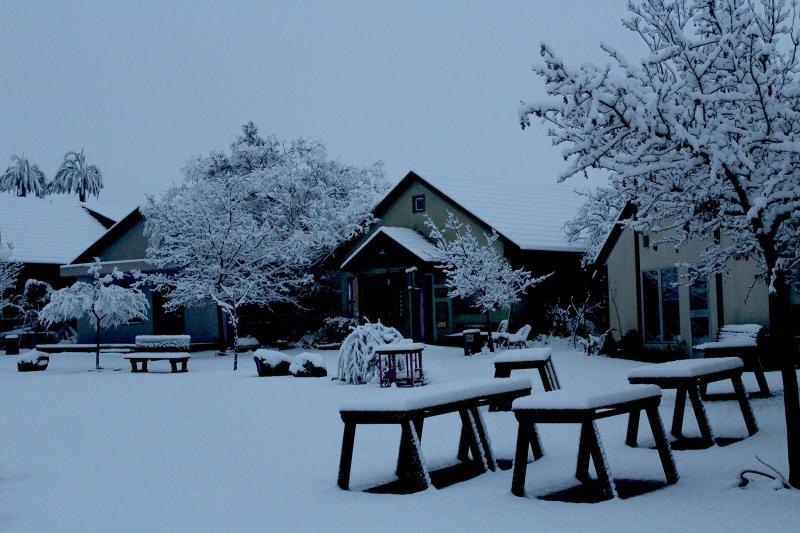 כפר האמנים אניעם בשלג