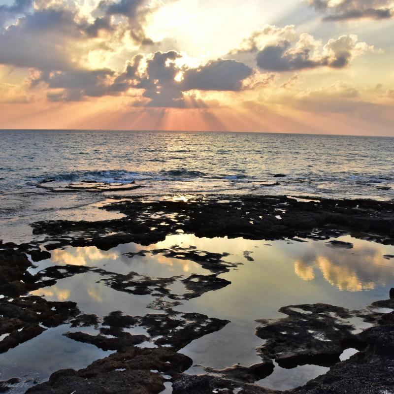 שקיעה בשמורת ים אכזיב