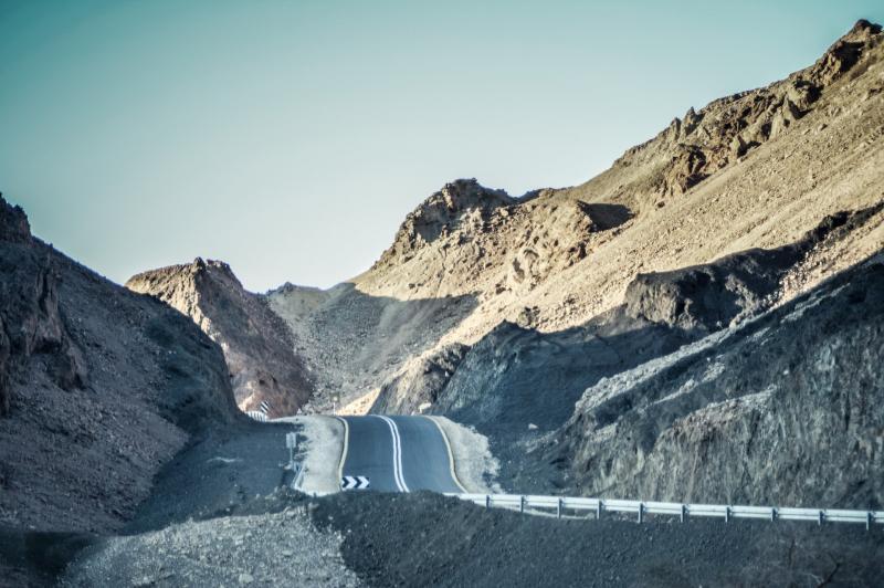 כביש בהרי שלמנ אילת