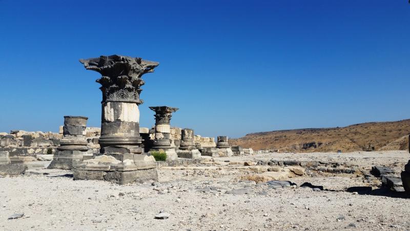 עמוד בזיליקה מהתקופה ההלניסטית המוקדמת