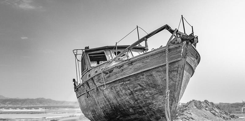 ספינת טרופה במדבר