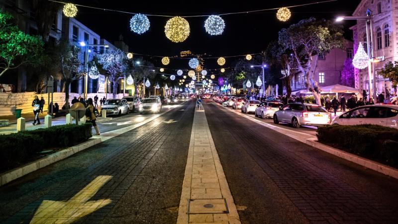 המושבה הגרמנית בחג של החגים בחיפה