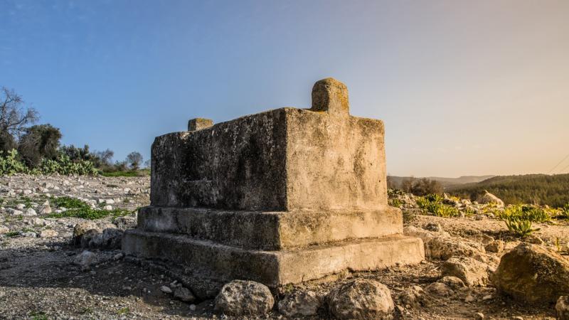 משהו שנראה כמו קבר באזור של מבצר לטרון