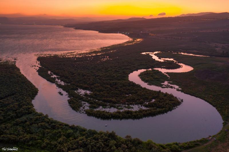 שפך נהר הירדן לכנרת