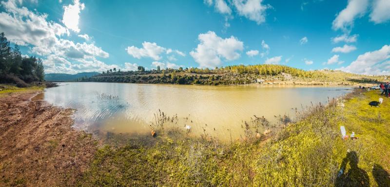 זוית פנורמית על האגם