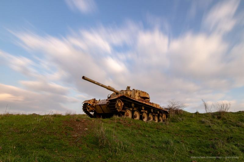 טנק בגבעת אורחה רמת הגולן